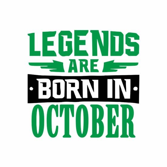 Legend are born in october